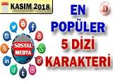 Sosyal Medyada En Popüler Dizi Karakteri - 2018 Kasım